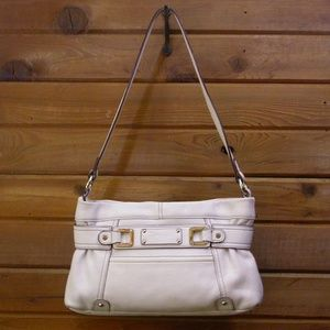 Tignanello White Leather Handbag